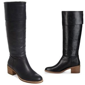 UGG Carlin Black Leather Boots - 7.5